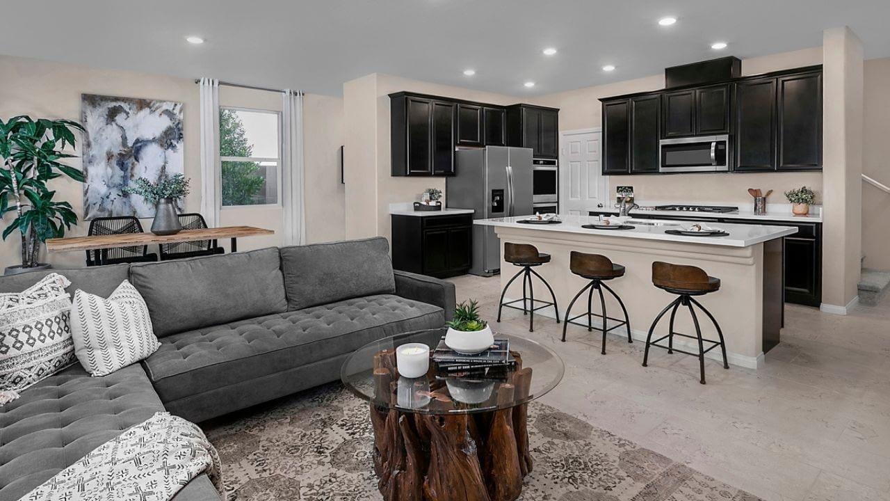 Bristle Vale is a neighborhood inside the Stonebridge Village in Summerlin, Las Vegas. Built by KB Home in 2020, Bristle Vale offers five two-story floor plans.